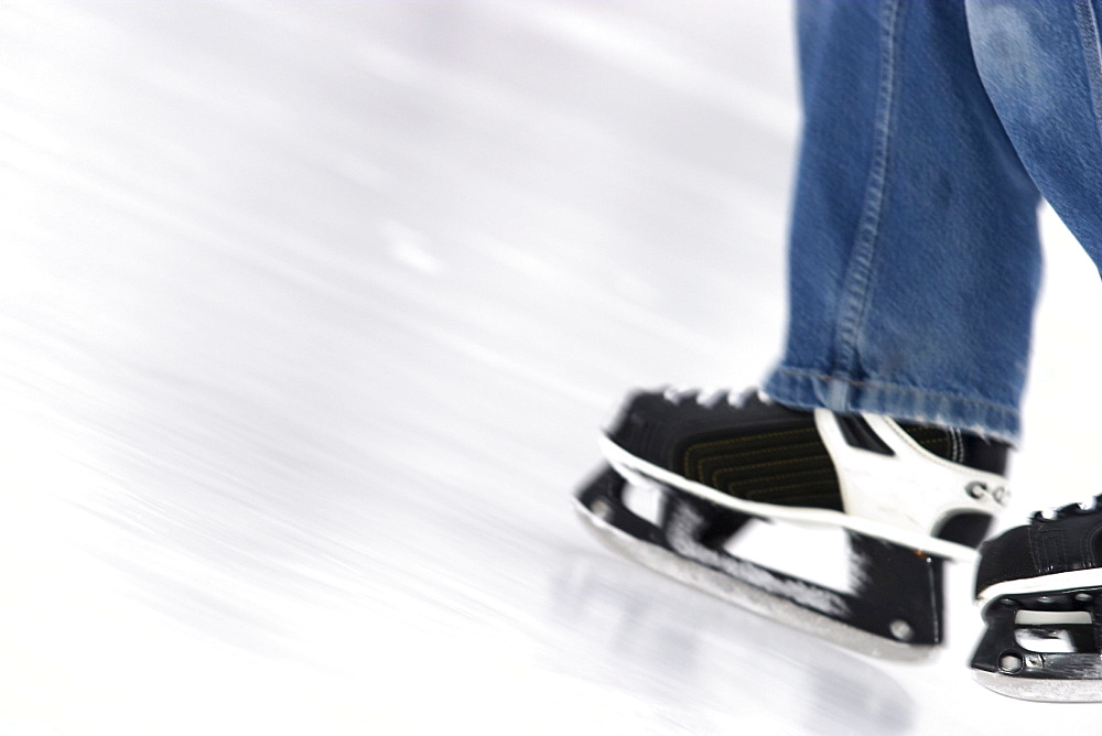 Skates in Motion on Ice
