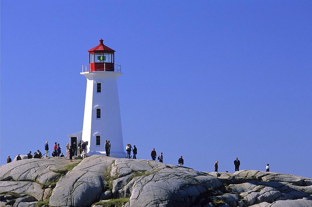 Lighthouse, Peggys Cove, Halifax County, Nova Scotia.