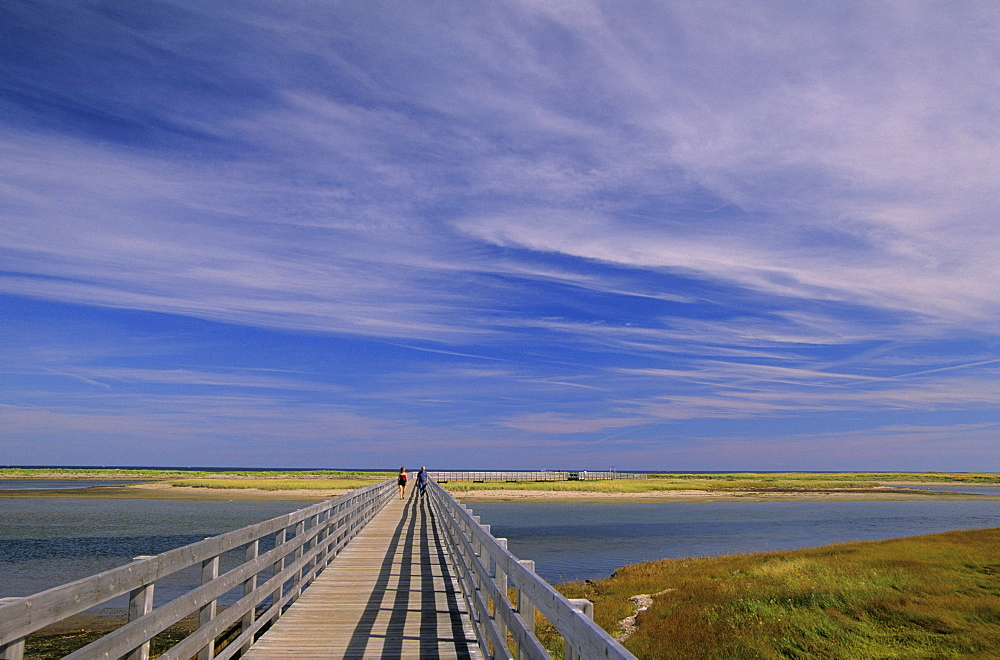 Couple on bridge, Kouchibouguac National Park, New Brunswick