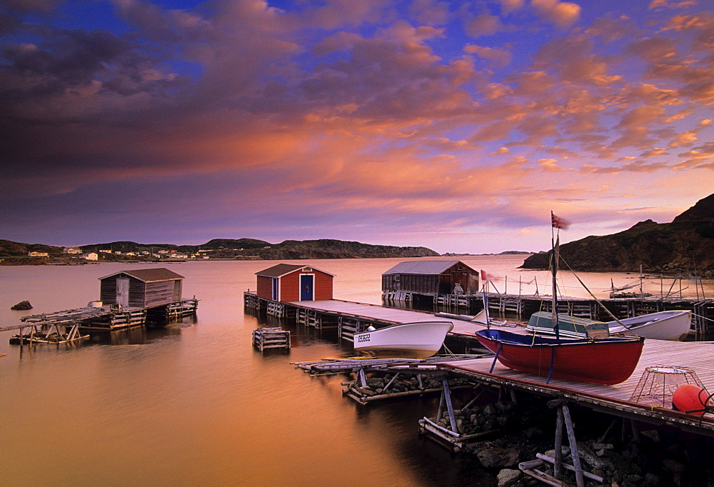 Dock at sunset, Durrell, Newfoundland & Labrador