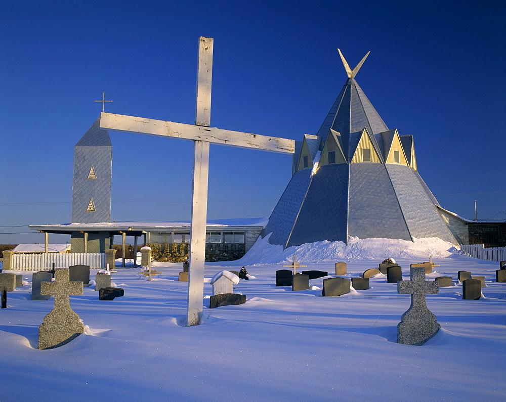Church in the shape of a Wigwam, (Gesgapegiag, Micmac community) Gaspesie, Quebec