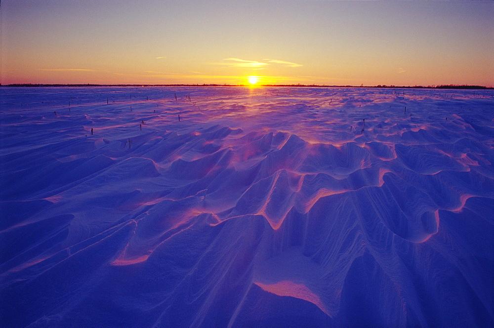 Snow Drift at Sunset, Saint-Philippe Monteregie, Quebec