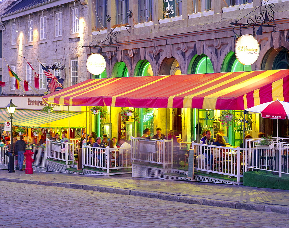 Terrace at Place Jacques-Cartier, Old Montreal, Quebec