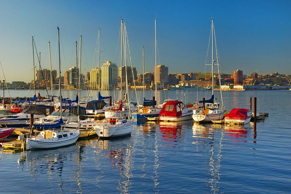 Marina Boats in Early Morning, Halifax, Nova Scotia