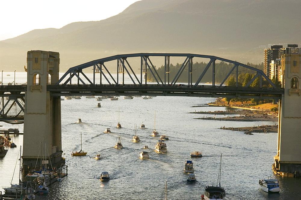 Burrard St. Bridge, False Creek, Vancouver, British Columbia