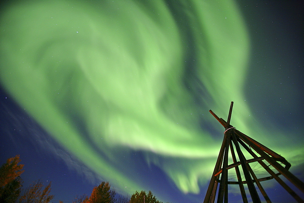 Aurora Borealis over Fort Simpson, Northwest Territories