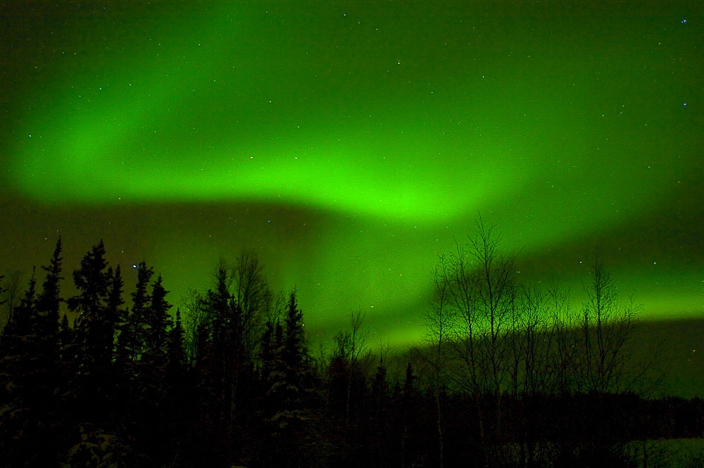 Aurora Borealis over Vee Lake, Northwest Territories
