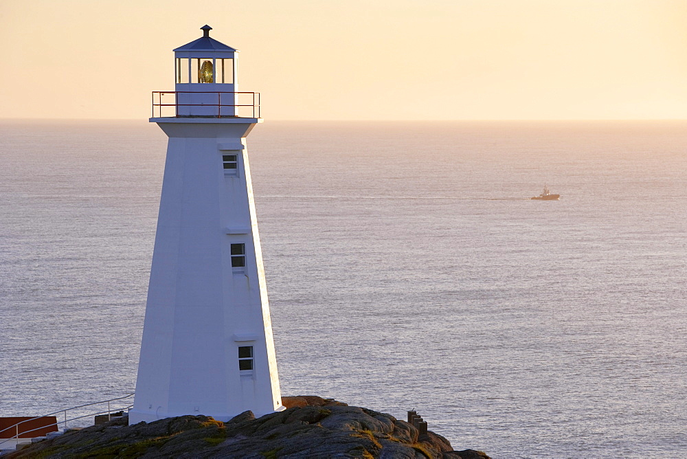 Cape Spear Lighthouse at Sunrise, Cape Spear National Historic Site, Avalon Peninsula, Newfoundland