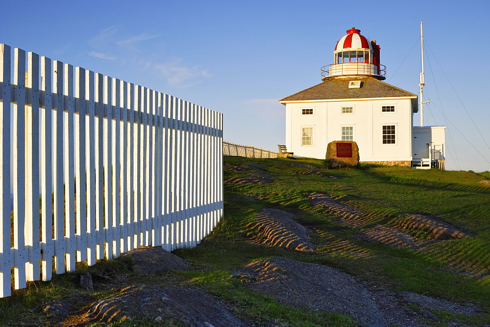 View of the Old Cape Spear Lighthouse at Sunrise, Cape Spear National Historic Site, Avalon Peninsula, Newfoundland