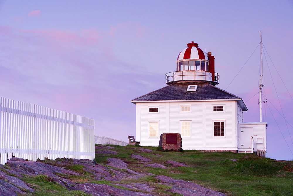 View of the Old Cape Spear Lighthouse at Dawn, Cape Spear National Historic Site, Avalon Peninsula, Newfoundland