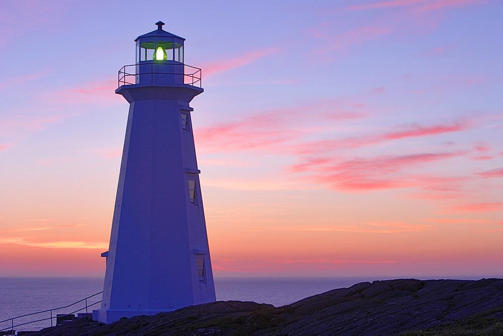 Cape Spear Lighthouse at Dawn, Cape Spear National Historic Site, Avalon Peninsula, Newfoundland