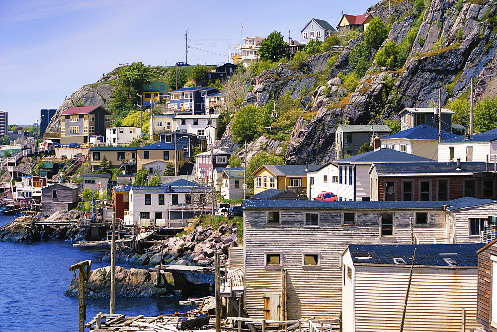 View of Houses in The Battery, Avalon Peninsula, St. John's, Newfoundland