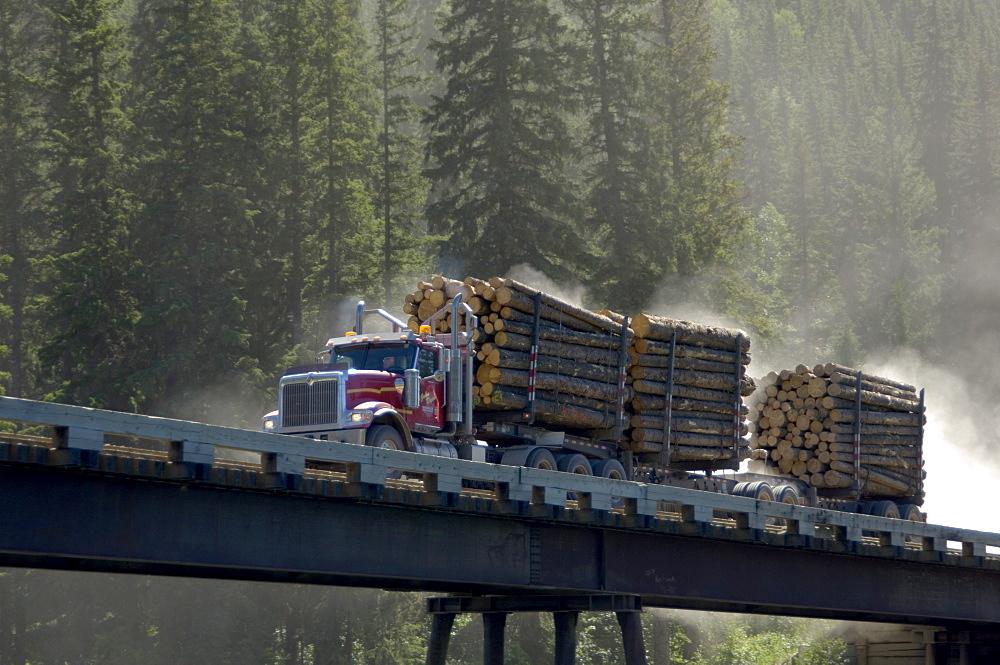 Logging Truck, Tumbler Ridge, BC