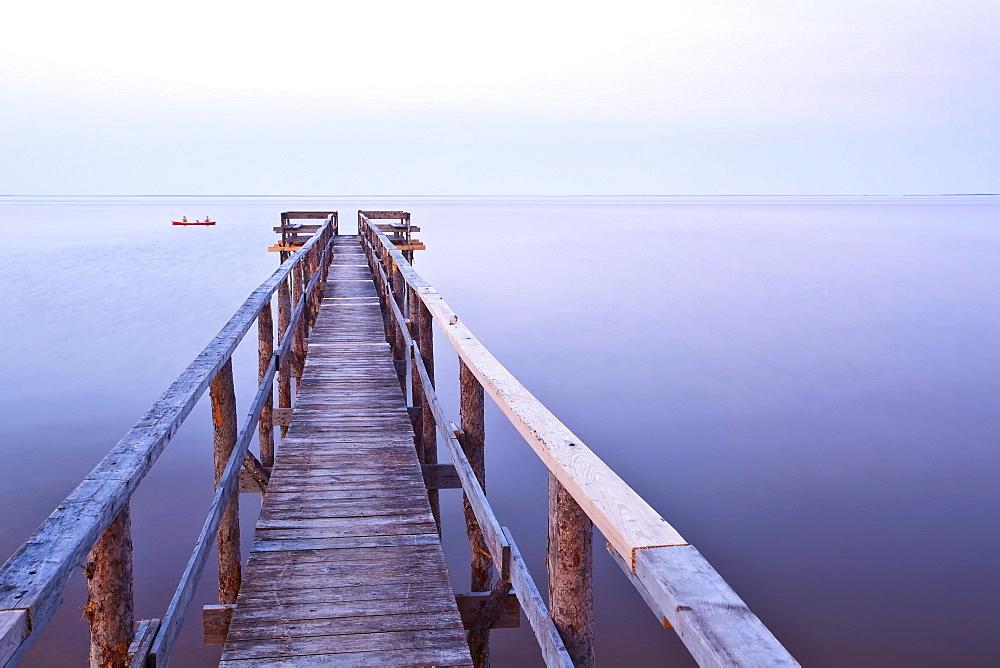 Pier on Lake Winnipeg, Matlock, Manitoba