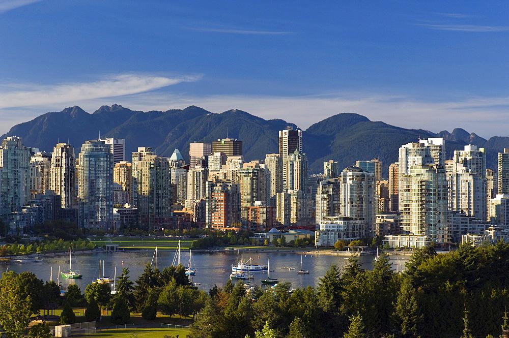 View North over False Creek, Vancouver, British Columbia