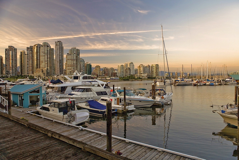 Downtown looking North-East over False Creek, Vancouver, British Columbia