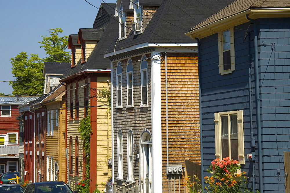Colourful homes, Charlottetown, Prince Edward Island