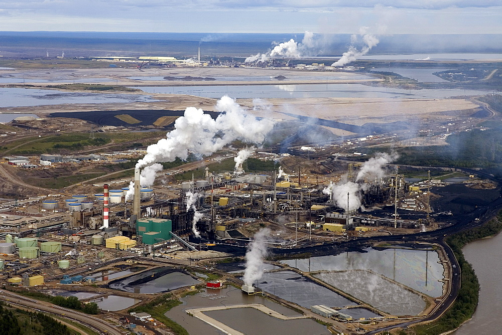 Aerial View of Oil Sands Facilities, near Fort McMurray, Alberta