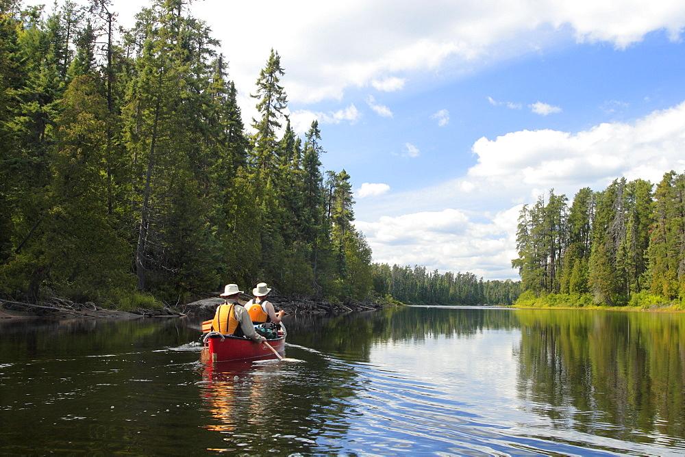 Canoeists, Maasasagi River, Chapleau, Ontario