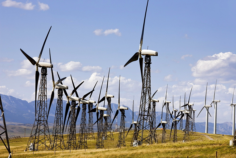 Wind turbines, Pincher Creek, Alberta, Canada