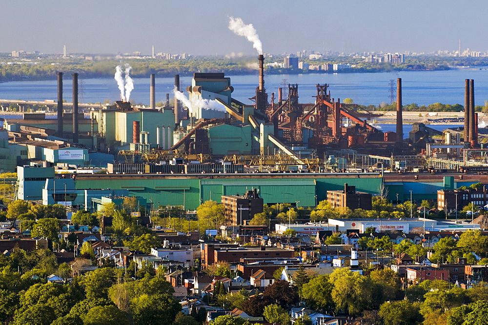 View of Arcelor-Mittal steel plant, Hamilton, Ontario, Canada.