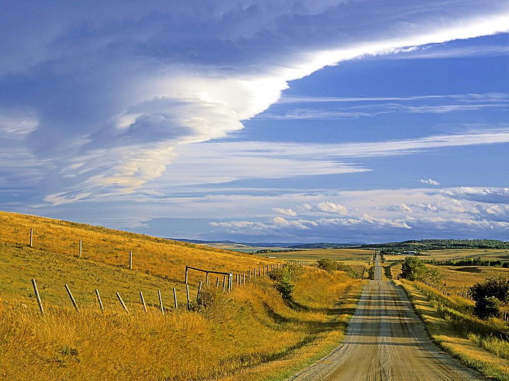 Chinook Arch over Rangeland, near Cochrane, Alberta, Canada