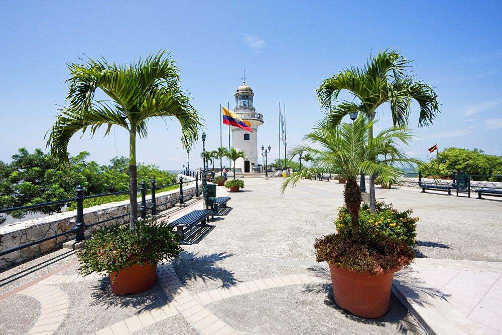 Lighthouse on Cerro Santa Ana, Guayaquil, Guayas, Ecuador
