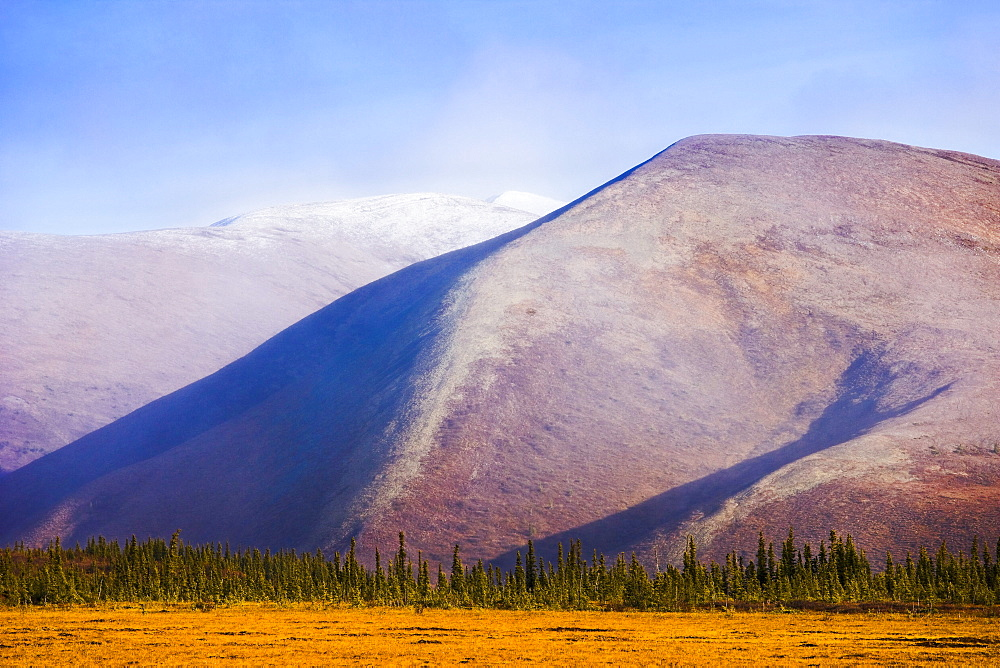Fall colours and Richardson Mountains along Dempster Highway, Yukon