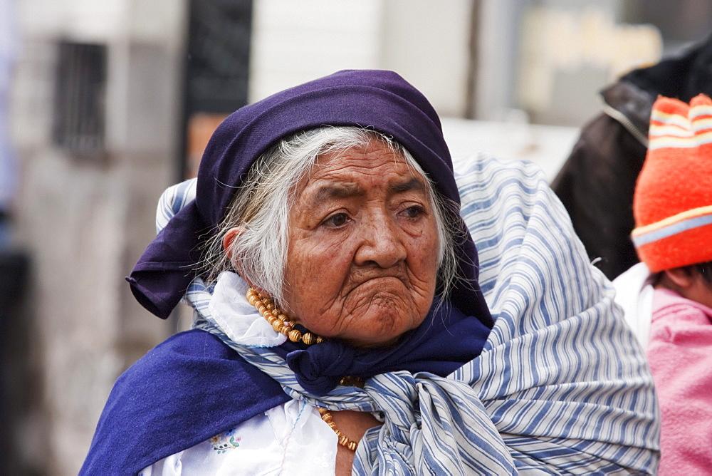 Old Otavaleua Woman, Otavalo, Imbabura, Ecuador