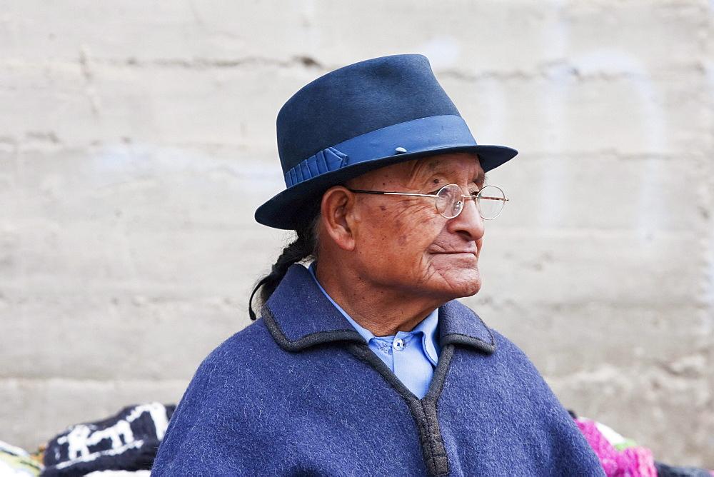 Old man, Otavalo, Imbabura, Ecuador