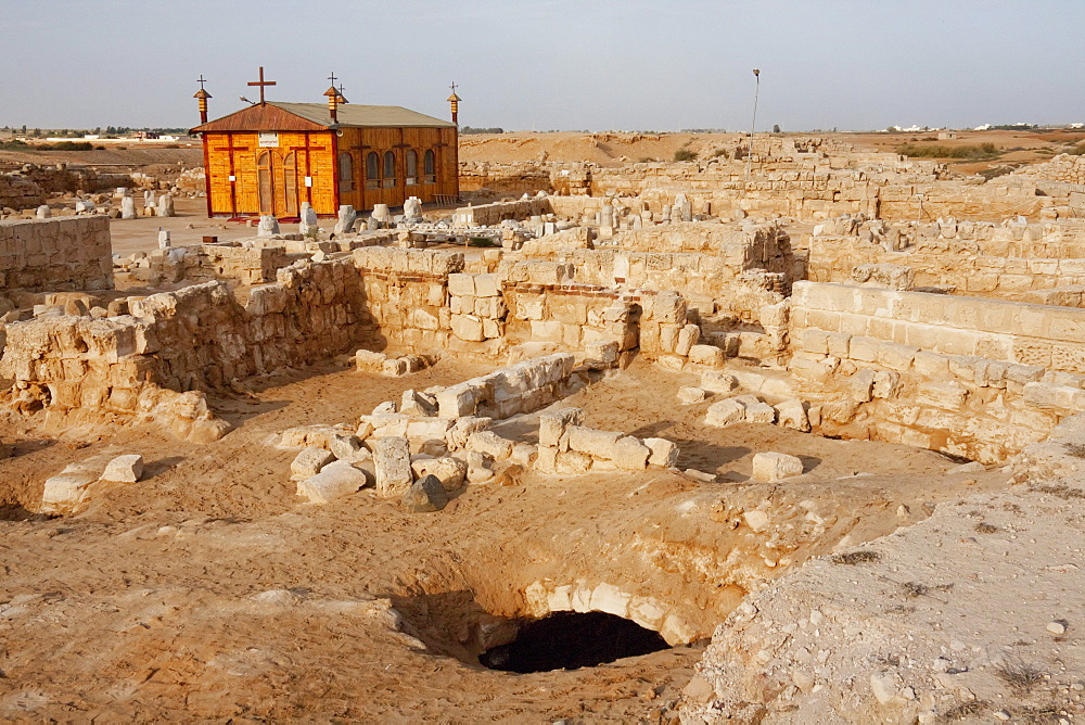 Remains of the Church of the Virgin St. Mary, (built 385 - 412 CE), known asthe Great Basilica, Abu Mena, Egypt