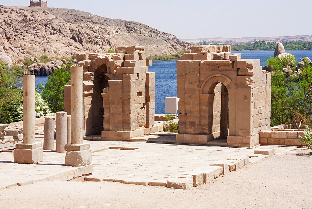 Temple of Augustus & the Gate of Diocletian, Philae, Aswan, Egypt