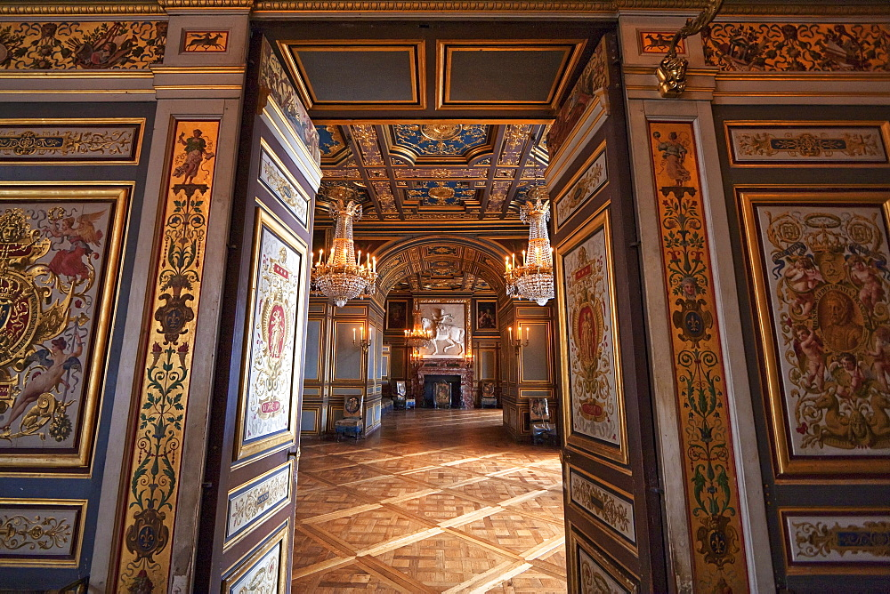 Rooms of Saint Louis in the Palace of Fontainebleau, Fontainebleau, Seine-et-Marne, France