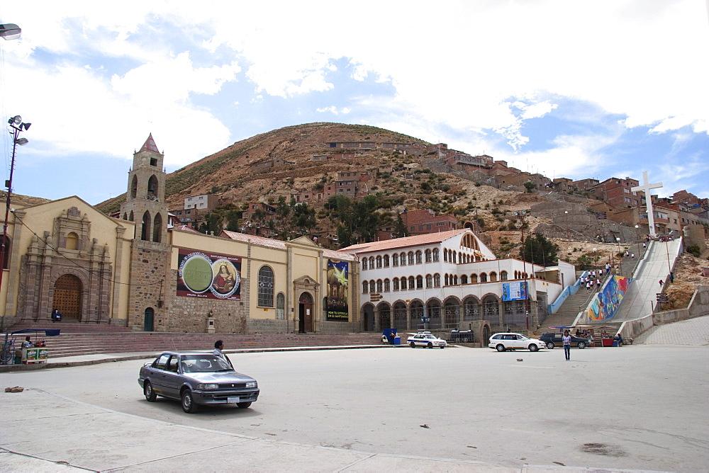 Santuario de la Virgen del Socavón on Cerro Pie de Gallo, Oruro, Bolivia