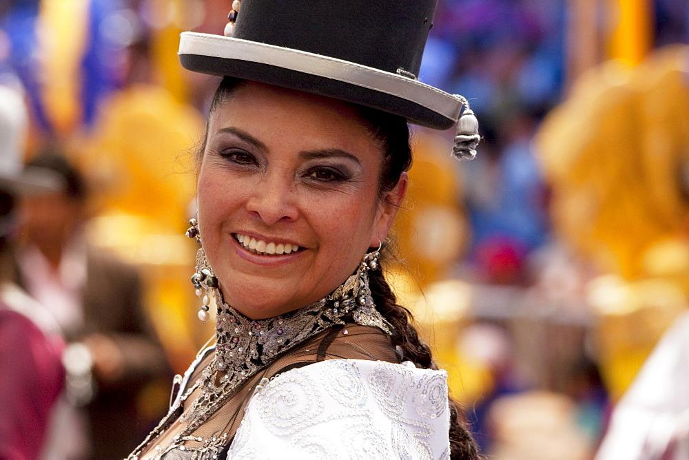 Morenada dancer in the procession of the Carnaval de Oruro, Oruro, Bolivia