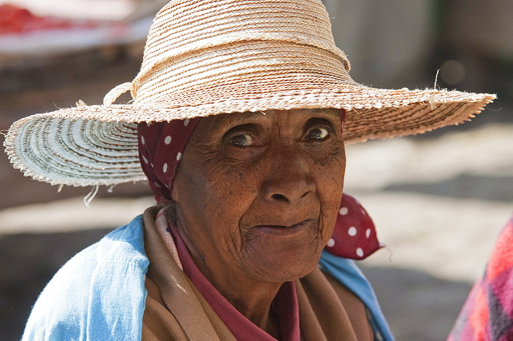 Woman at the weekly market in Fianarantsoa, Madagascar