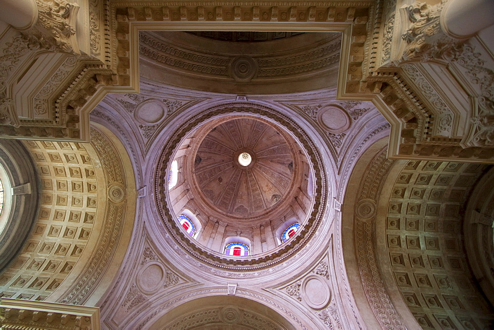 Cupola in the interior of the Panteon Nacional de los Huroes (National Pantheon of the Heroes), Asuncion, Paraguay