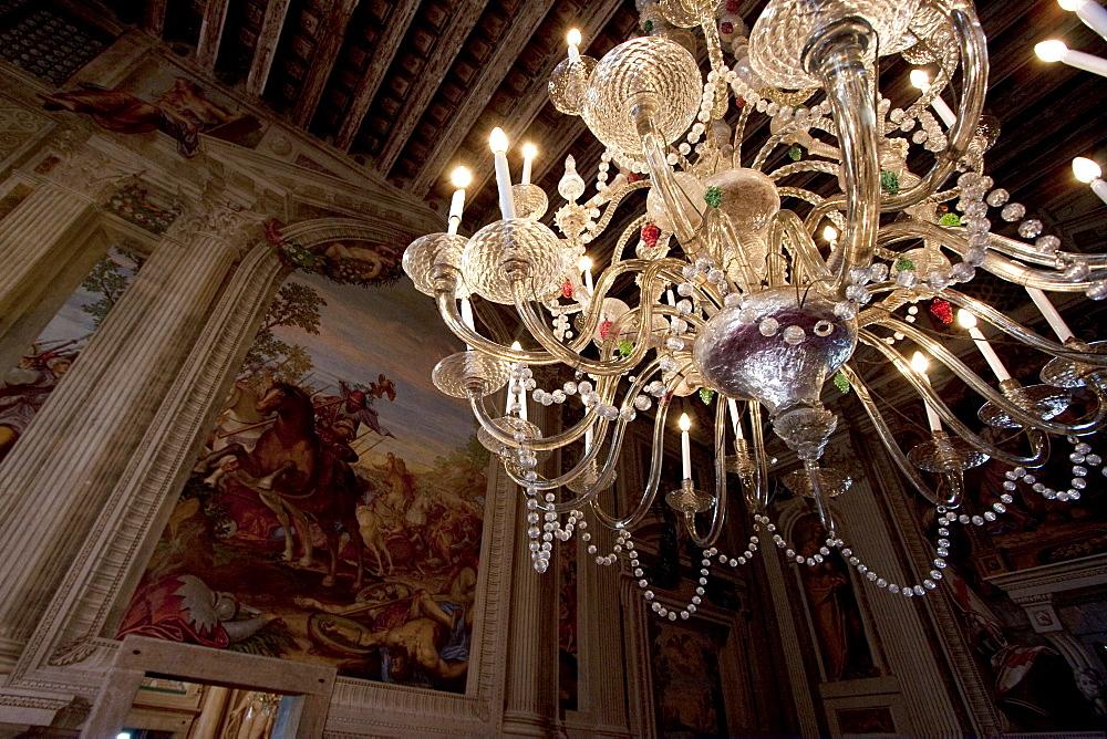 Chandelier in the Main Hall of Villa Godi Malinverni by Andrea Palladio, Lonedo di Lugo, Italy