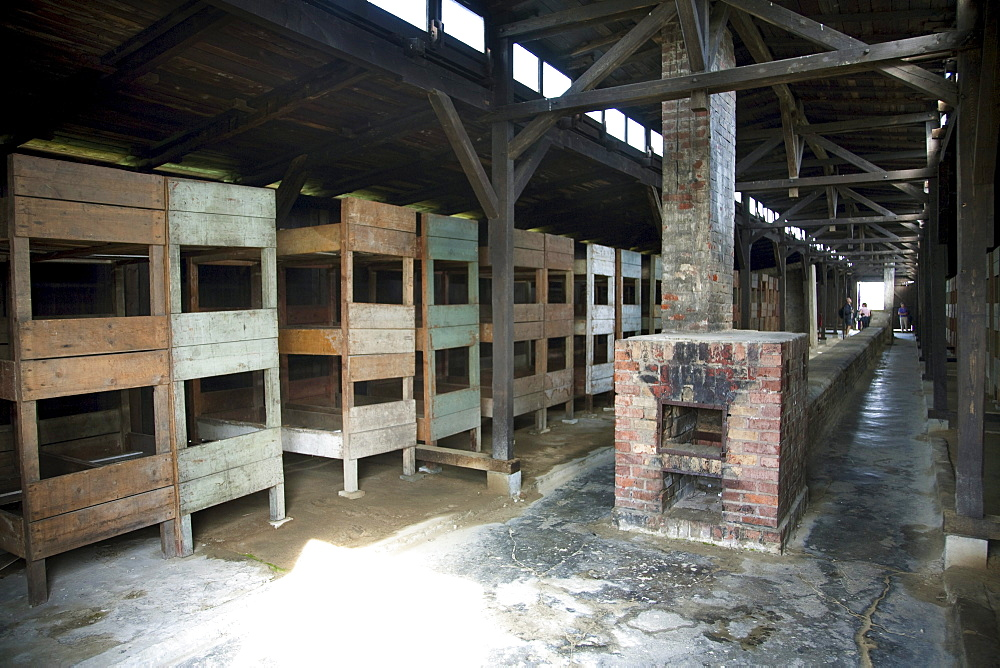 Interior of one of the medical barracks, Auschwitz-Birkenau Concentration Camp, Oswiecim, Malopolska, Poland