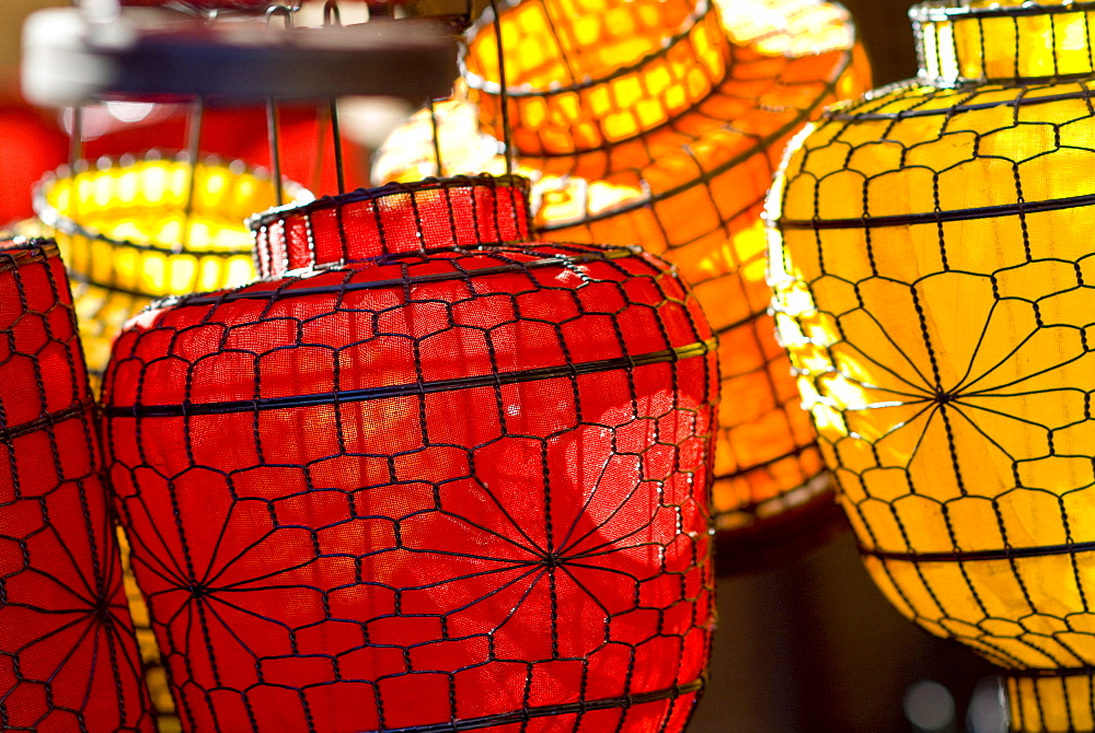 China, Beijing, Decorative lanterns found in the market place. - 1116-29895