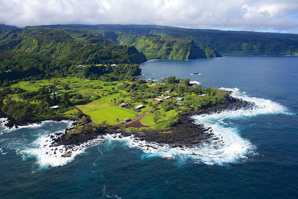 Hawaii, Maui, Keanae Peninsula along the road to Hana.