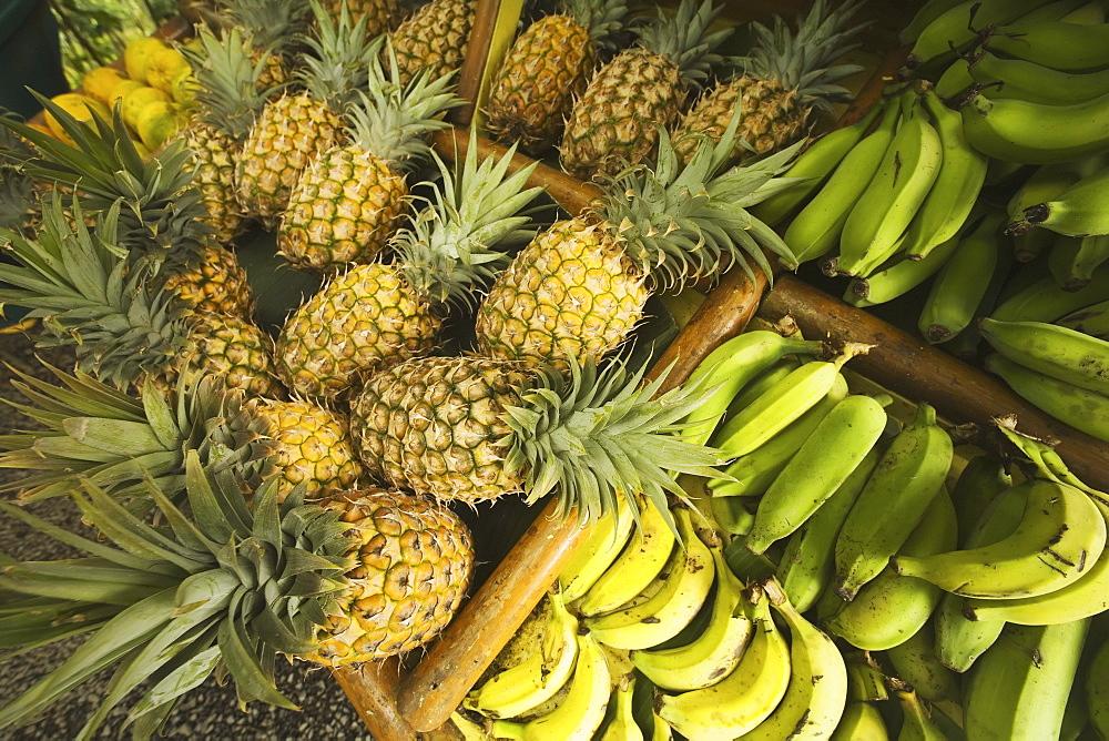 Hawaii, Maui, Fruit stand at Huelo along Hana Highway.