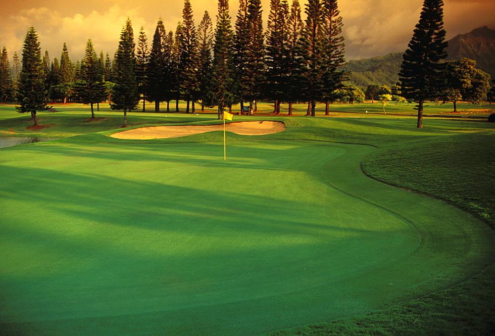 Hawaii, Kauai, Princeville Resort, Lake Golf Course