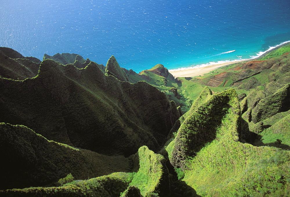 Hawaii, Kauai, Na Pali Coast, Aerial