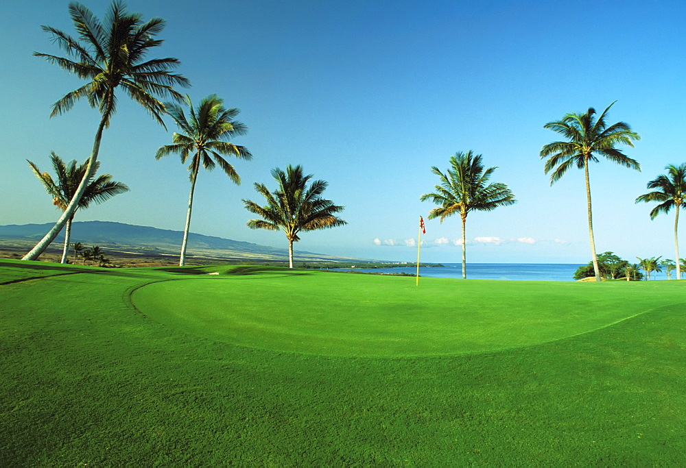 Hawaii, Big Island, Kohala Coast, Mauna Kea beach Resort, Mauna Kea Golf Course