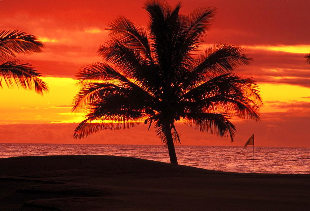 Hawaii, Big Island, Waikoloa, Waikoloa Resort, beach Golf Club