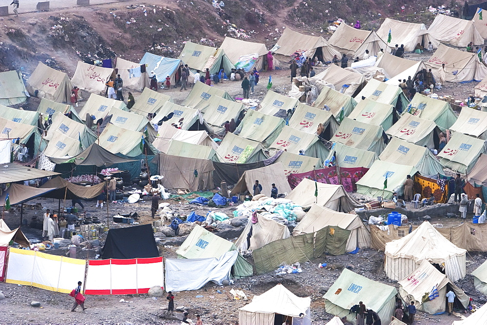 Tents In A Relief Camp After The 8 October 2005 Earthquake, Muzaffarabad, Azad Kashmir, Pakistan