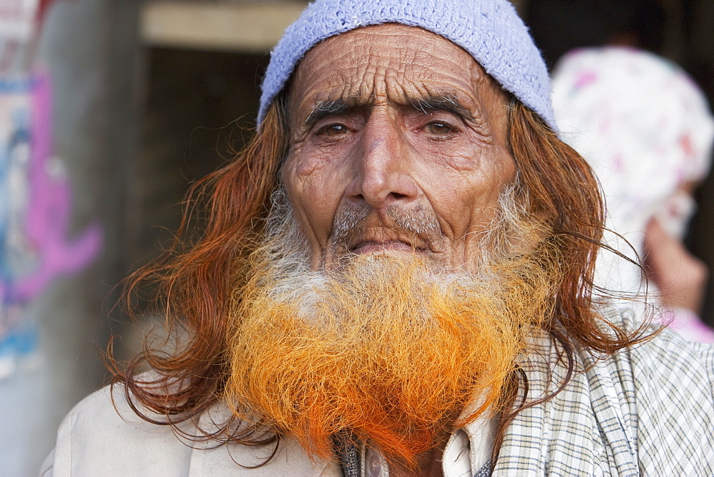 Old Kashmiri Man With A Red Beard, Muzaffarabad, Azad Kashmir, Pakistan