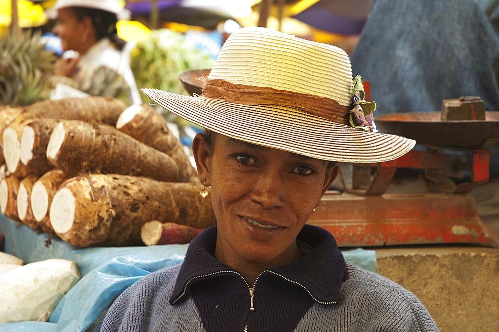 Woman At An Antananarivo Market, Antananarivo Province, Madagascar