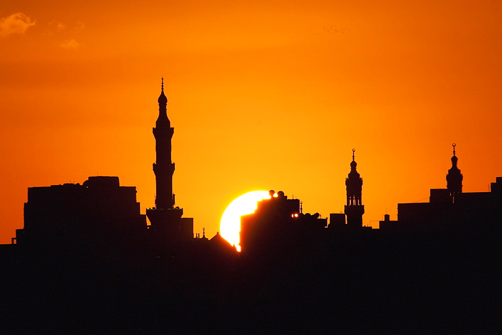 Skyline Of The Ottoman District And Eastern Harbor At Sunset, Alexandria, Al Iskandariyah, Egypt